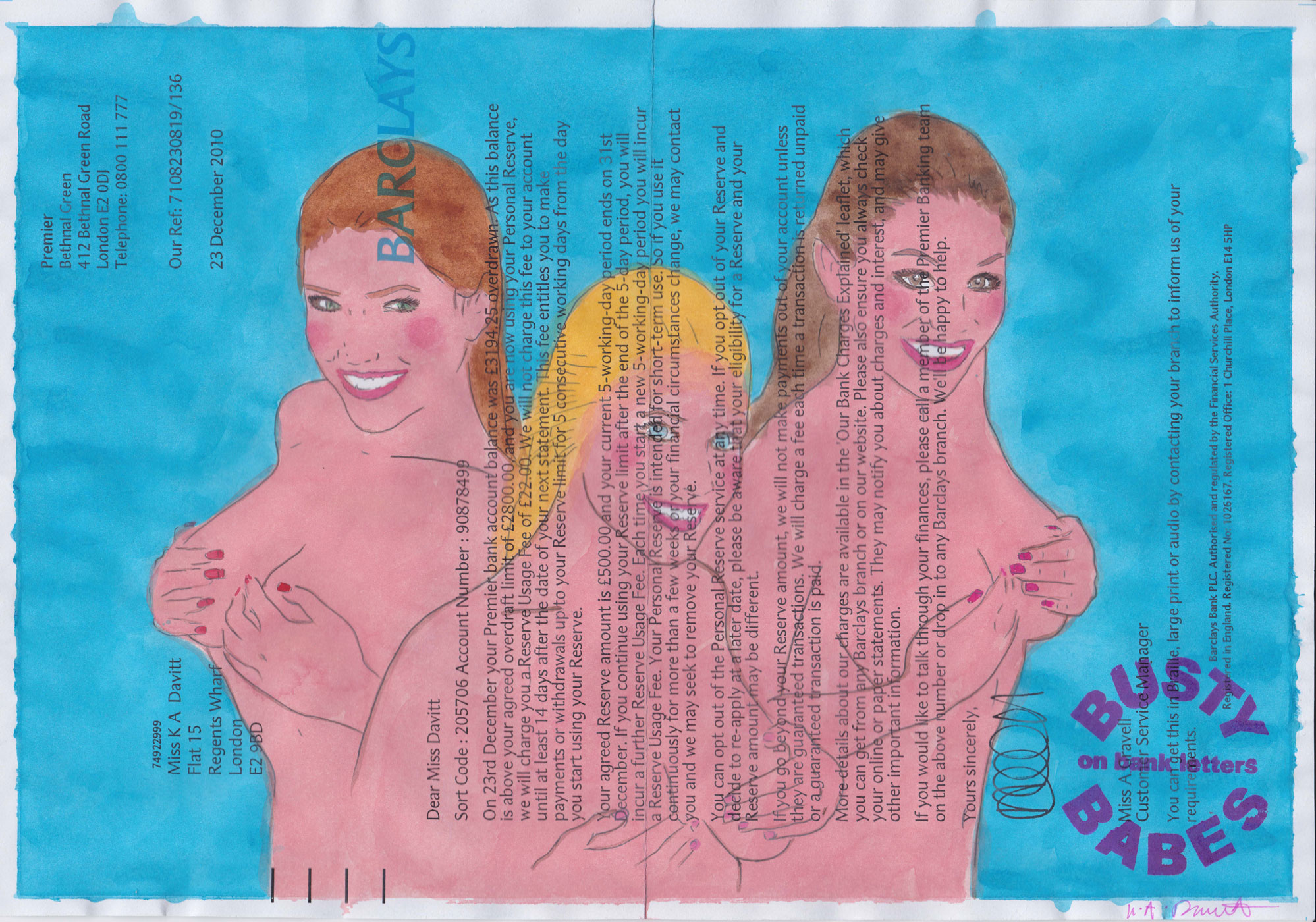 Kelly-Anne Davitt - Busty Babes On Bank Letters